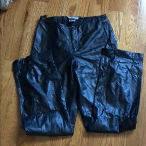 LEATHER NINE WEST pants in 8